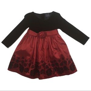 Girls Dress in Black and Red, Size 2